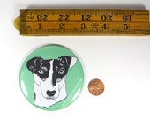 Jack Russell magnet - Jack Russell portrait magnet - dog sitter gift - jack russell terrier illustration - puppy gift - dog  breed gift