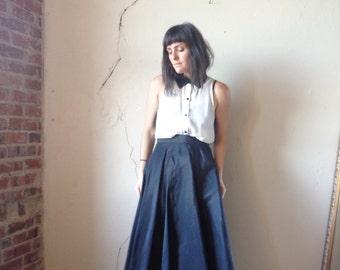 Taffeta skirt | Etsy