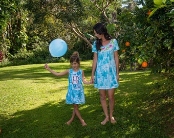 Mother Daughter Dresses -  Matching Dresses  - Mother Daughter - Dress Mother Daughter - Dresses Matching -  Hawaii Dresses  Plus Size Dress