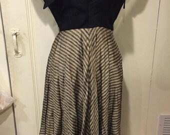 Beautiful 1940s dolman sleeve dress, AS IS