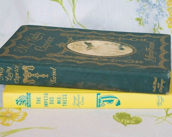 A Pair of Vintage Books - Blue and Yellow