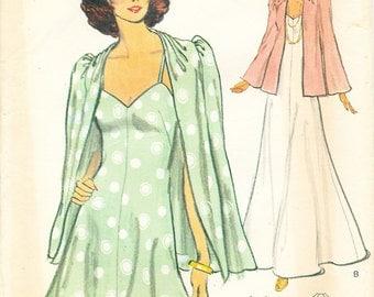 "Vogue 8909 A-Line Mid or Maxi Dress and Evening Jacket Misses' Sz 6 Bust 30-1/2"" UNCUT"