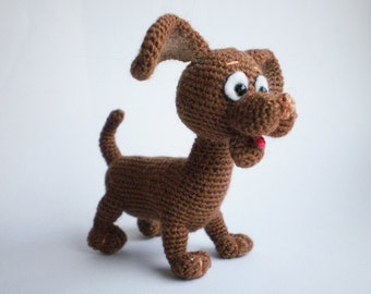 Pocket Puppy Toto – Crochet Pattern by ToyMagic [PDF Instant Download Amigurumi Toy]