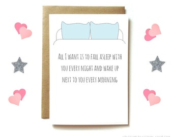 Love card, anniversary cards for boyfriend, husband, wife, girlfriend. preferably naked.