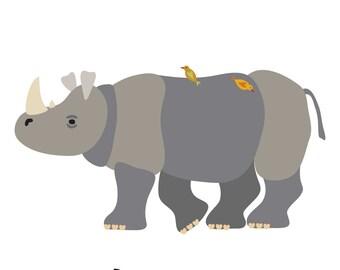 Rhinoceros (4x4 Card)
