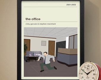 The Office TV Show Poster (UK), TV Print, Print, Poster