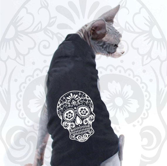 Pink Black Skull Dog Sweater