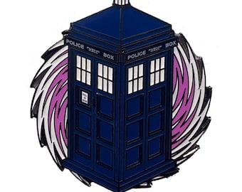 Glowing TARDIS Pin