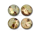 Sarcastic Humor - Fridge Magnets - Funny Magnets - 1.5 Inch Magnets - 4 Magnets - Kitchen Magnets