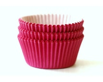 Mini Hot Pink Solid Color Cupcake Liners (50)