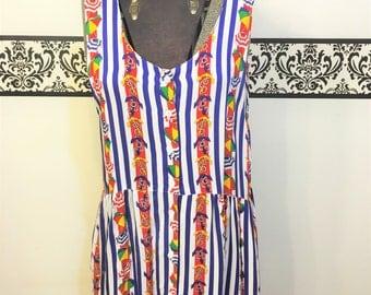 80's Does 50's Rockabilly Red White & Blue Sailor Dress by Marisa Christina Classics, Size Medium, 1980's Pin Up Dress, 80's Beach Dress