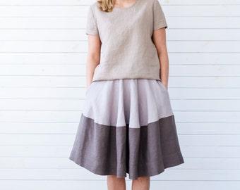 Linen top, Linen shirt, Beige linen blouse, Linen top, Linen summer blouse, Linen summer top, Short sleeve linen blouse, Summer linen top