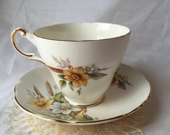 Vintage Regency Tea Cup and Saucer, Regency English, Bone China, 1960s, 1970s