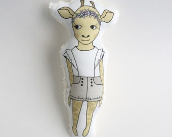 Giselle the Giraffe. Softie. Plushie. Stuffed Animal. Stuffed Toy.