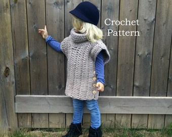 Borealis Vest Warmer - Crochet PATTERN (Sizes: Toddler, Sm Child, Lg Child, Adult)