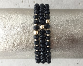TRIO Bracelet Stack (Black)