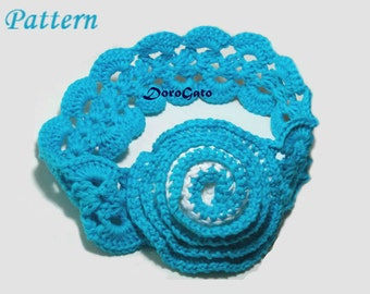 Crochet headband pattern, Baby Girl Headband, DIY Craft, Sizes - baby to adult, Tutorial crochet pattern, step by step pattern /3007/