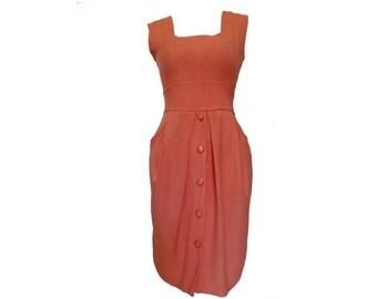 1980s Jacques Gevertz fitted summer DRESS // size eu 38 -uk 10 -us 6