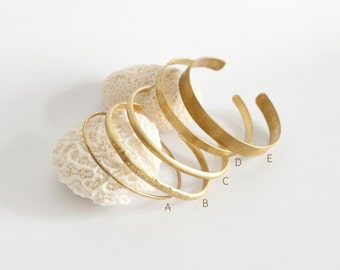 Choose between 5 different brass cuff bracelets! (SOLD INDIVIDUALLY)