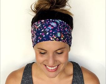 Yoga Headband - Workout Headband - Fitness Headband - Running Headband - Bali Sky Print - Boho Wide Headband