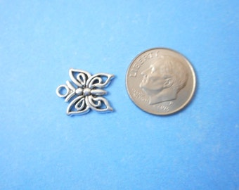 10 Butterfly Charms, Metal Charms, DIY Charms, Supplies,Butterfly Pendants,Charms,Butterfly,Craft Supplies,Jewelry Findings,Butterfly Charms