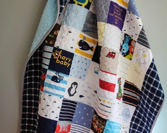 Baby Clothes Quilt, Memory Quilt, T-Shirt Quilt, Clothing Quilt, Keepsake Quilt
