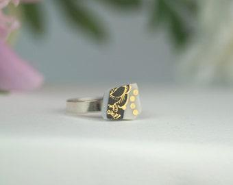 Marie - porcelain ring