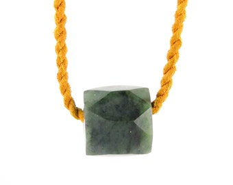 Bohemian Rope Necklace w/ Jade Crystal