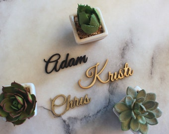 Set of 20- Laser Cut Names // Wedding Place cards // Custom Place Setting // Guest Names