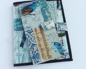 JW Ministry Organizer Set: Magazine Holder/Folio and Tract Holder-Blue Bird/Butterfly