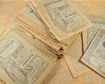 Grand Opera Libretto Magazines - Large Stack of Antique Opera Programs - Metropolitan Opera House