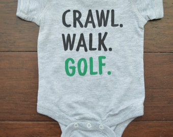 Golf Baby Outfit - Custom baby outfit - Personalized Baby Outfit - Custom baby bodysuit - Funny Baby clothes