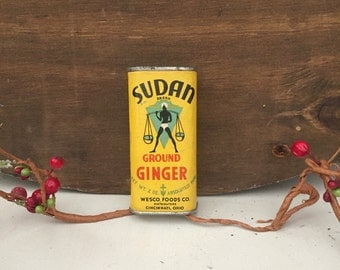 Antique Sudan Ground Ginger Tin from the 1930's
