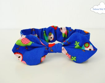 Baby Bow Headband~ Baby Girl Headband~ Blue Headband~ Baby Knot Headband~ Newborn Girl~ Knot Headband~ Hair Accessories~ Headband Adult