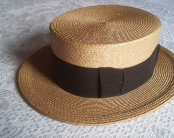 Fine straw boater
