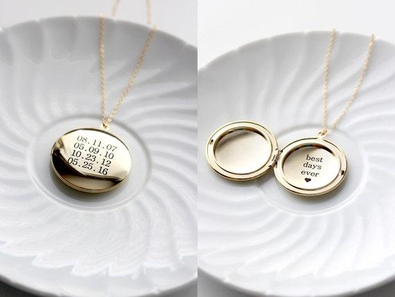 engraved locket necklace large personalized engraved locket. Black Bedroom Furniture Sets. Home Design Ideas