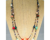 The Solara, double strand necklace