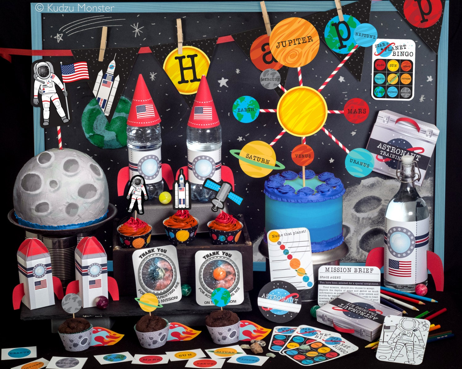 Space Explorer Party Astronaut NASA printable decor kit