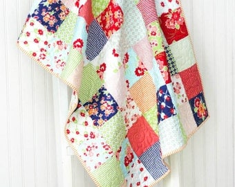 Miss Kate Baby Quilt - Crib Quilt - Small Lap Quilt - READY TO SHIP