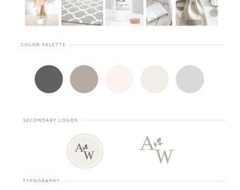 Custom Branding Package / Custom Logo Design / Brand Board / Brand Styling / Business Logo / Brand Identity / Squarespace Website Design
