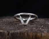 Sterling Silver Triangle Ring-Arrow Ring-Silver Arrow Ring-Bohemian Rings-Midi Rings-Boho Chic Jewellery