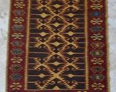 3 by 5 rug, Kilim Rug, Vintage Kilim, Turkish Kilim Rug, Small Kilim Rug, Kilim Pillow, Small Rug, Small Vintage Rug, Kitchen Rug,Oushak Rug