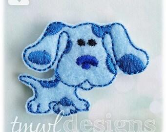 "Navy Dog Feltie Digital Design File - 1.75"""
