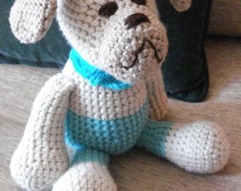 """Crocheted puppy dog stuffed animal doll toy """"Arnie"""""""