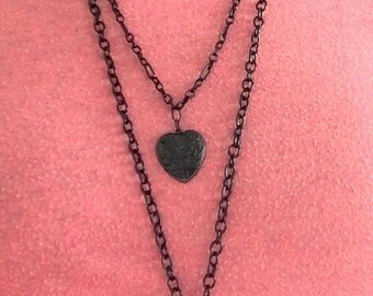 Black Ghost or Cloud Agate Layered Necklace or Pendant - Multiple Choices
