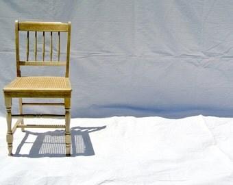Antique Cane Chair Primitive Farmhouse Dining
