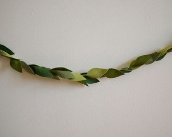 Green Leaf Garland - Felt - Multiple Sizes Available