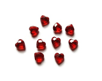 January Birthstone Heart Floating Charm for Floating Lockets-Dark Red-Garnet-6mm-1 Piece-Gift Ideas