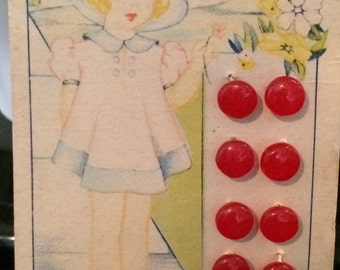 Vintage Ultra Kraft Buttons on Original Card