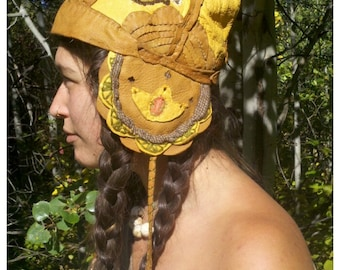 Sherpa Punk Patchwork Leather Hat